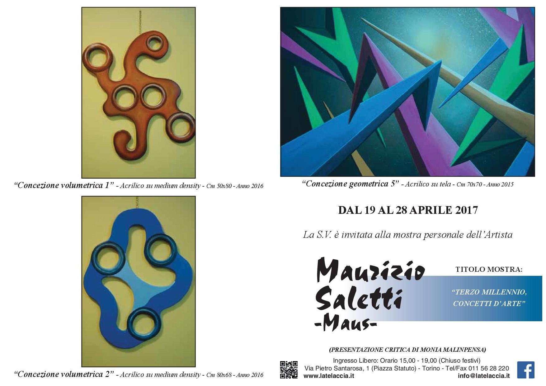 depliant mostra personale dell'artista Maurizio Saletti - Maus1.jpg