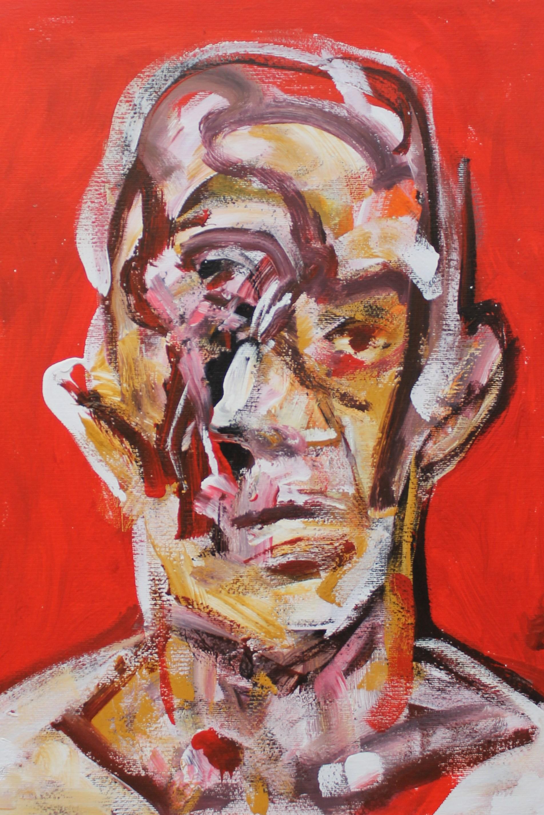Marcel Duchamp -  Acrilico su carta -  50x60 cm - 2015