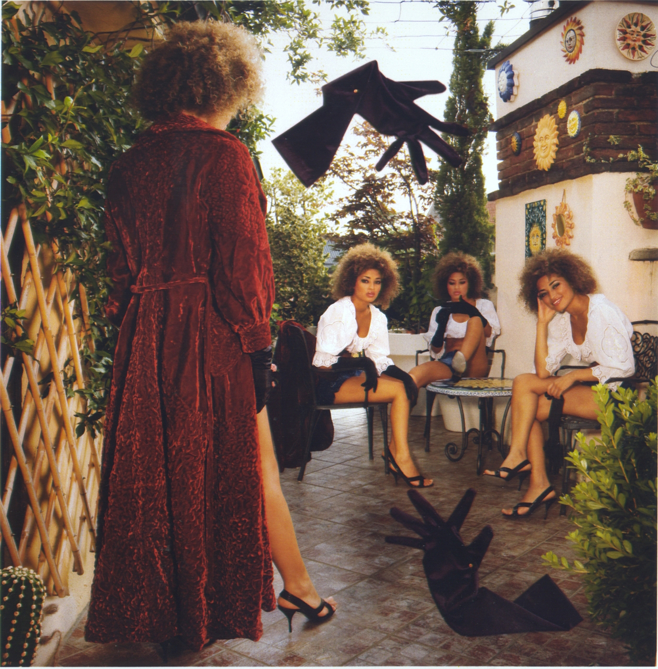 Lloning on the terrace - Collage su stampa lambda - 100x200 cm - 2011