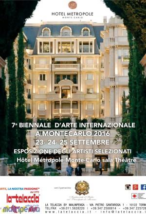 7^ BIENNALE D'ARTE INTERNAZIONALE A MONTECARLO 2016