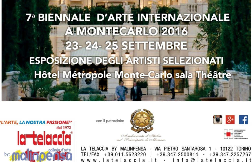 7^ INTERNATIONAL BIENNALE D'ART MONTECARLO IN 2016