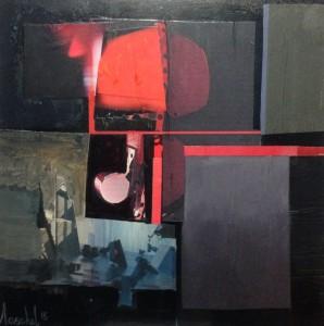 Collage e olio -  cm 30 x 30 - 2015