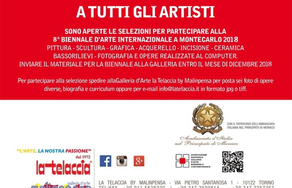 8^ BIENNALE D'ARTE INTERNAZIONALE A MONTECARLO 2018