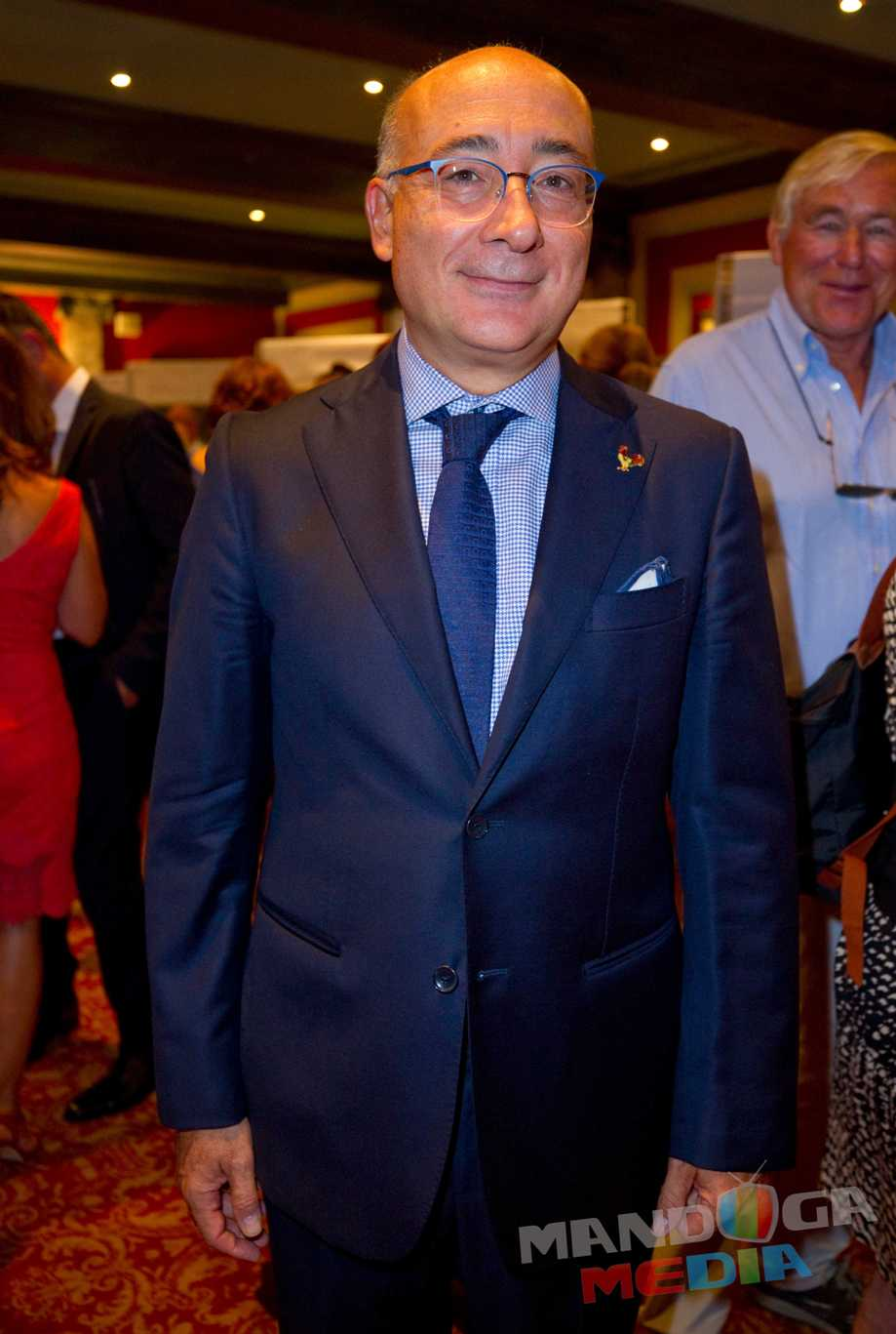 Monaco, Monte Carlo - September 21, 2018: 8° BIENNALE D'ARTE INTERNAZIONALE A MONTECARLO with Ambassador of Monaco to Italy, H.E. Mr. Cristiano Gallo. Christiano, International Art Exhibition, Botschafter,