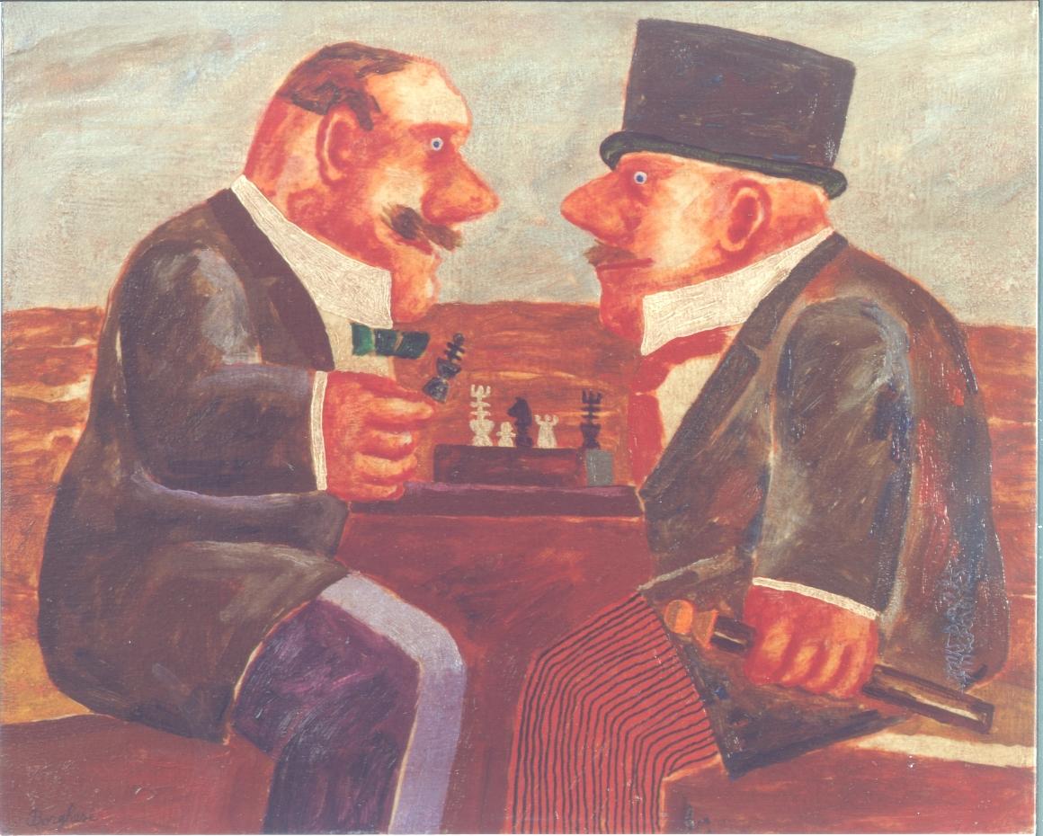 Giocatori di scacchi - Olio su tela - 40x50 - 1998