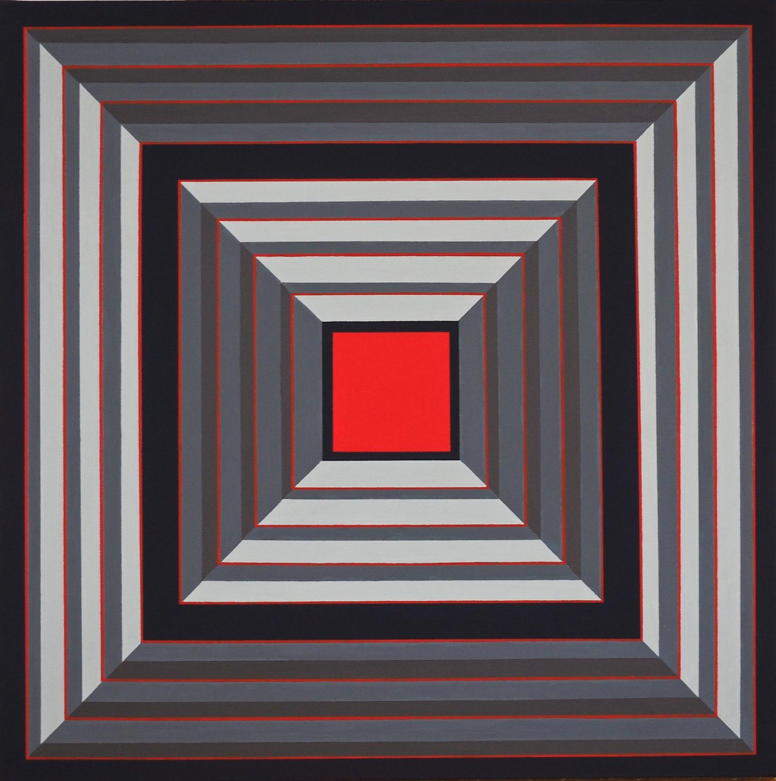 Profondo Rosso 50x50 acrilico su tela 09/01/2014