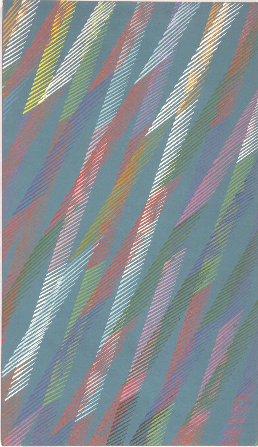 Blu moon - Olio su tela - 70x40 cm - 1988