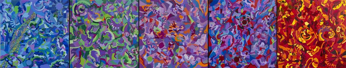 2017-verso destra o verso sinistra alla ricerca di miei colori preferiti-tecnica mista su tavola-80x400.jpg