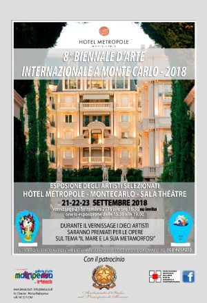BIENNALE D'ARTE INTERNAZIONALE A MONTECARLO 2018